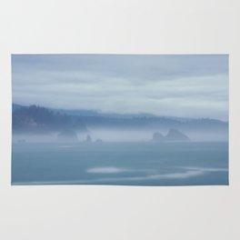 Foggy Coastline Rug