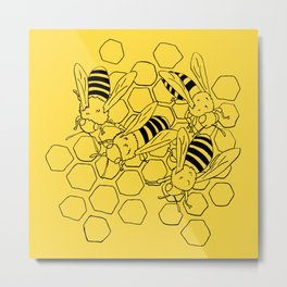 The Busy Bees Metal Print