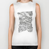 silver Biker Tanks featuring Silver by RK // DESIGN