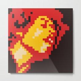 Jimi Experience minimal pixel Metal Print