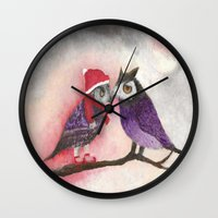 xmas Wall Clocks featuring XMAS by Ana  La Bella Carapinheiro