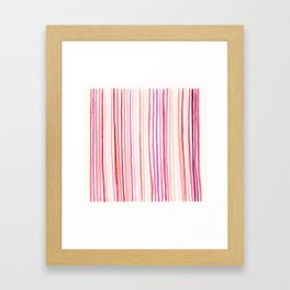 Watercolor Painting • Berry Lines Framed Art Print