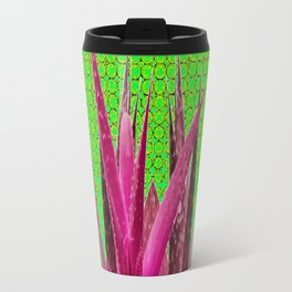OPTICAL ART MAUVE PURPLE CACTUS Travel Mug