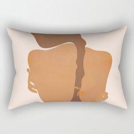 Minimal Female Figure Rectangular Pillow