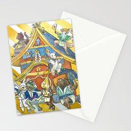 Yokaï musicians Stationery Cards