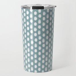 Dots . Blue Travel Mug
