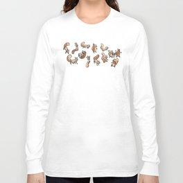 Lots of Sammy Squirrels Long Sleeve T-shirt