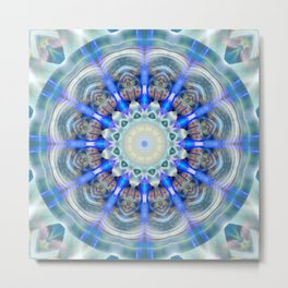 Mandala element air Metal Print