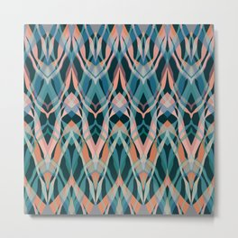 Abstract pattern . Janet Metal Print