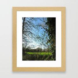 seeing trough Framed Art Print