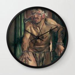 The Blinded Samson Wall Clock
