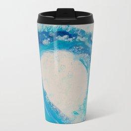 Abstract Waves Metal Travel Mug
