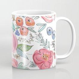 Watercolor Floral Print Coffee Mug