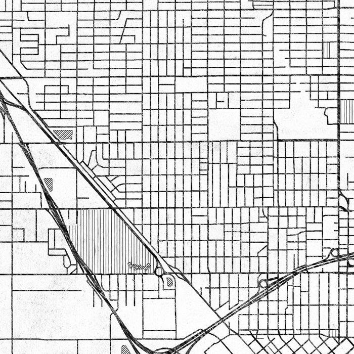 Fresno Map Line Leggings