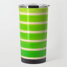 Lime Green Aztec Pattern Travel Mug