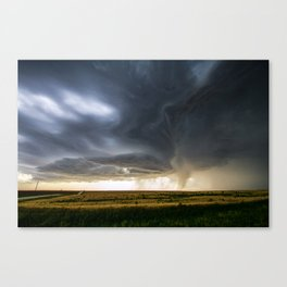 Storm Season - Thunderstorm Takes Shape in Northern Kansas Canvas Print
