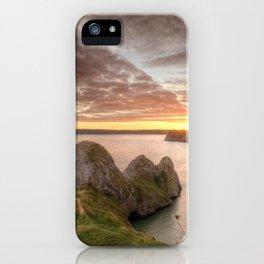 Portrait style Three Cliffs Gower iPhone Case