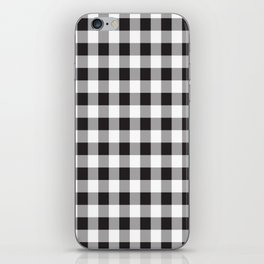Black Buffalo Plaid Pattern iPhone Skin