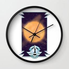 50's vintage space art. Wall Clock