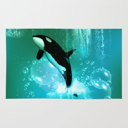 Awesome orca Rug