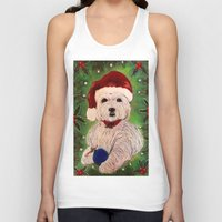 westie Tank Tops featuring A Very Westie Christmas by Heidi Clifton