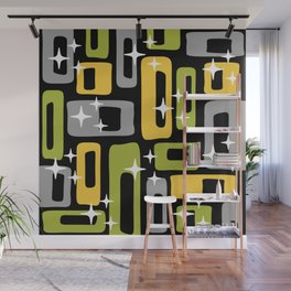 Retro Mid Century Modern Abstract Pattern 617 Wall Mural