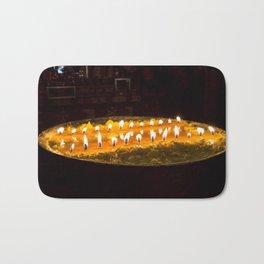 Tibet: Ritual butter lamp Bath Mat