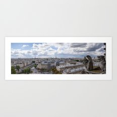 Panorama of Paris from Notre Dame  Art Print