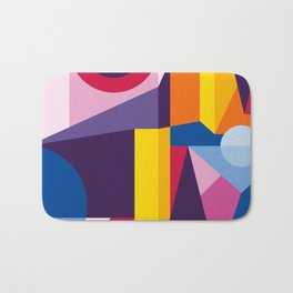 Abstract modern geometric background. Composition 2 Bath Mat