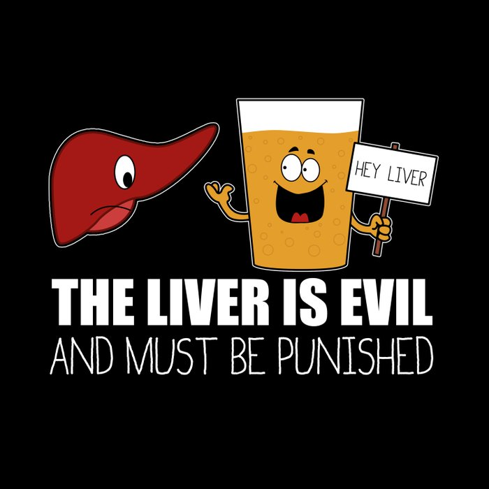 The Liver Is Evil and Must Be Punished Duvet Cover