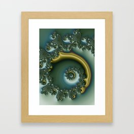 spiral art -h- Framed Art Print