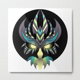 Aztec Owl Metal Print