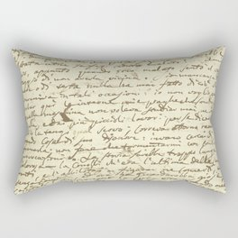 Original Paganini letter Rectangular Pillow