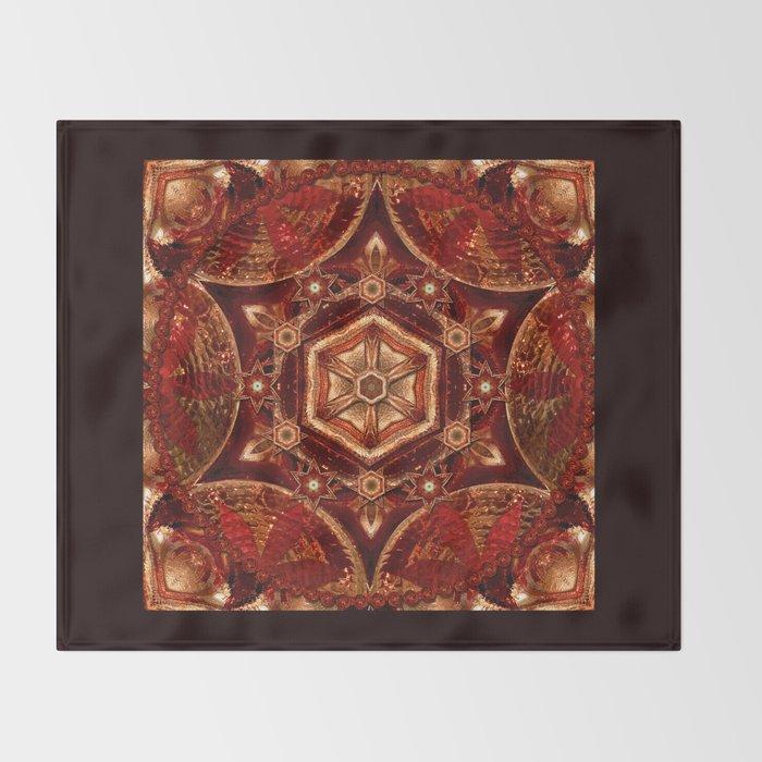Meditation in Copper Throw Blanket