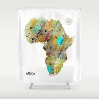 africa Shower Curtains featuring Africa by bri.buckley