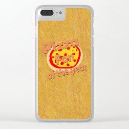 Pizza Fan Clear iPhone Case