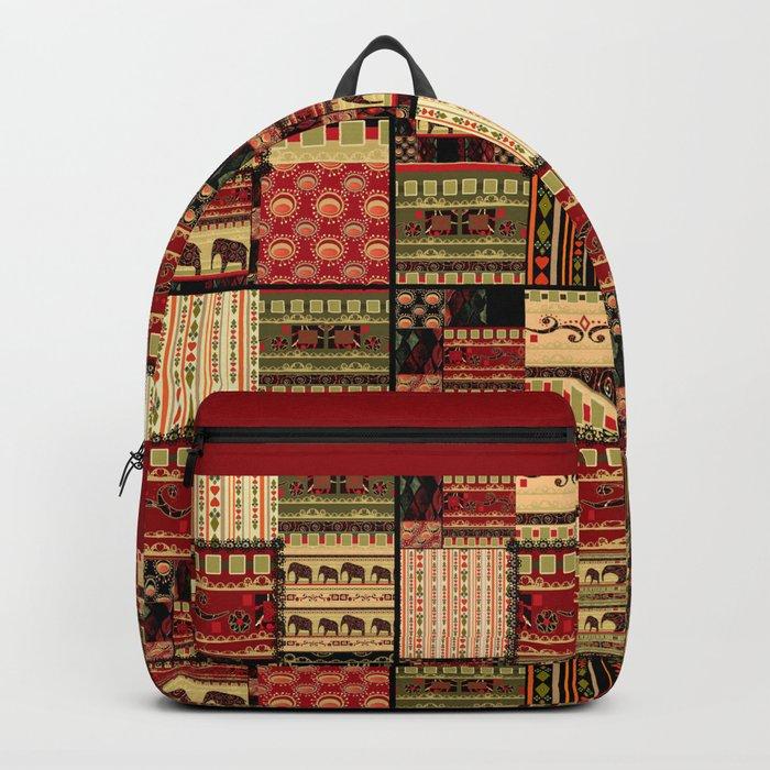 African motifs . Patchwork Backpack