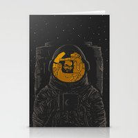 dark side of the moon Stationery Cards featuring Dark side of the moon by Rodrigo Ferreira