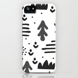 Sandinavian absract art iPhone Case