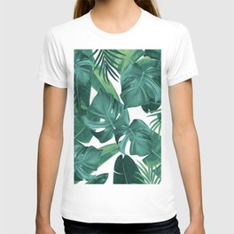 Tropical Summer Jungle Leaves Dream #2 #tropical #decor #art #society6 T-shirt