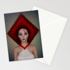 Queen of diamonds portrait Stationery Cards