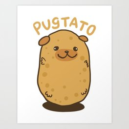 The Pugtato! - Gift Art Print