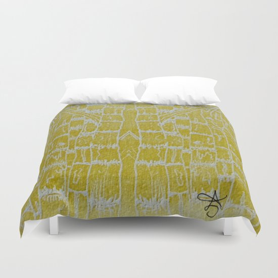 Yellow Sugarcane Duvet Cover