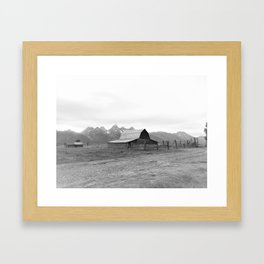 Grand Tetons Barn View Wyoming Framed Art Print