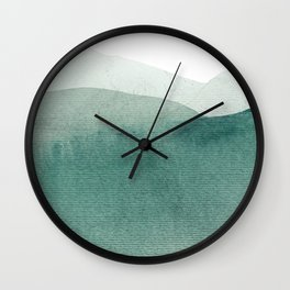 Valley's deep and the mountains so high Wall Clock