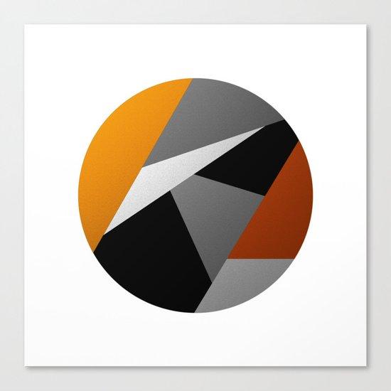 Metallic Moon - Abstract, metallic textured geometric moon space artwork Canvas Print