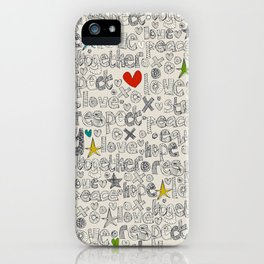 respect iPhone Case