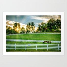 Sunrise on the Ranch Art Print