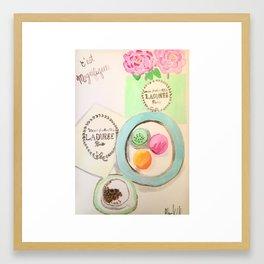Macaron Luxury Framed Art Print