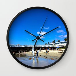 San Diego Beach Boardwalk/Crystal Pier Wall Clock